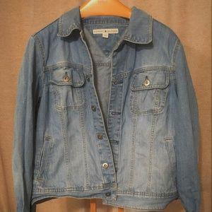 Tommy Hilfiger Womens Jean Jacket Size XL